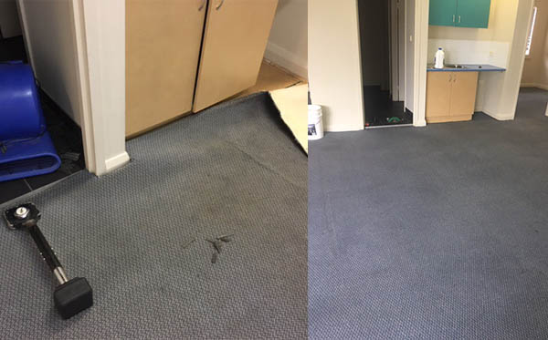 carpet relaid, re-stretched and cleaned 2017
